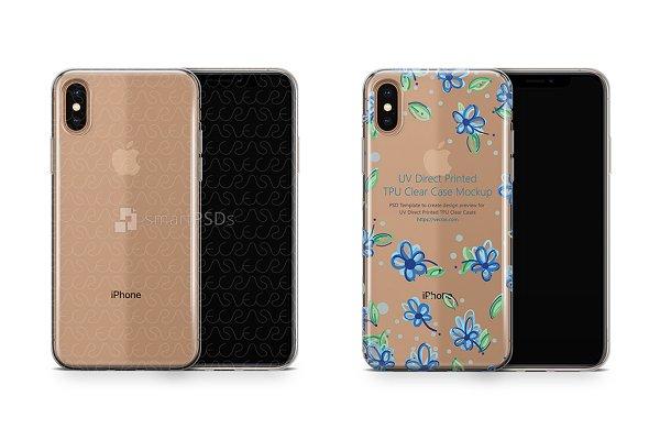 iPhone Xs Max UV TPU Clear Case