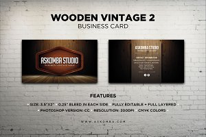 Wooden Vintage 2 - Business Card