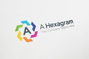 A letter Hexagram Logo Template