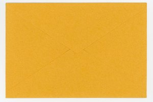 yellow paper envelope