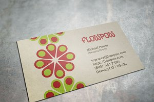 Colorful Flower Power Business Card