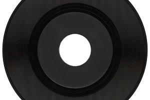 vinyl record isolated over white