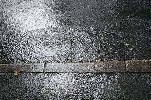 Pouring rain water