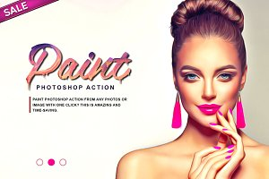 Paint Drawing Photoshop Action