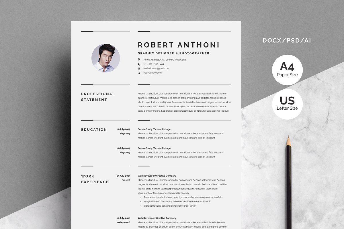 Creative Resume Template 3 Pages ~ Resume Templates ...