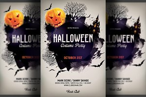 halloween event psd flyer template flyer templates creative market
