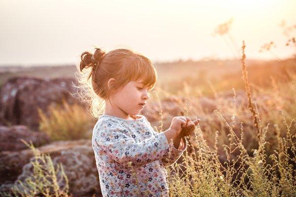 People Stock Photos - little cute girl