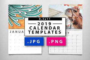 2019 JPG/PNG Calendar Templates