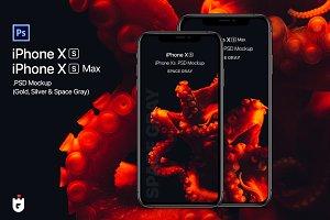 iPhone Xs & Xs Max PSD Mockups