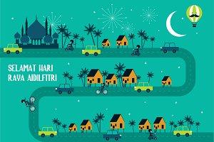 hari raya/ balik kampung greetings