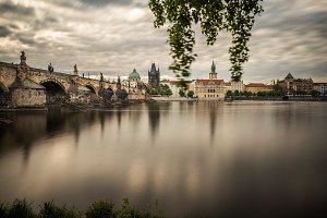 Charles Bridge and a view of the Old