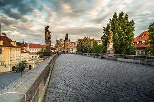 On the Charles bridge, Prague
