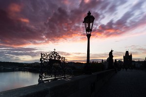 Dawn on the Charles Bridge