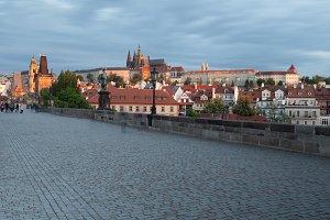 View from the Charles Bridge in Prag