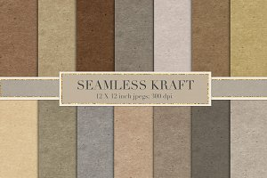 Seamless kraft paper backgrounds