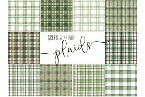 Green & Brown Repeatable Plaids