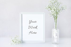 Baby's Breath and Frame Mockup