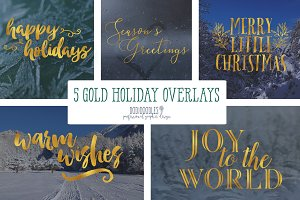 Gold Holiday Overlays