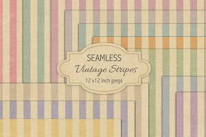 Seamless vintage stripes