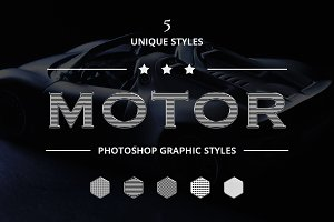 Motor Photoshop Graphic Styles