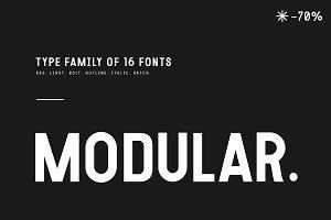 MODULAR - 16 FONTS