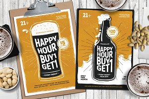 Happy Hour Flyer & Posters