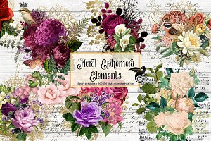 Floral Ephemera Elements