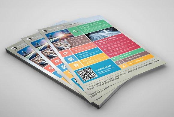 Metro style corporate flyer-V78