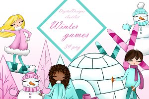 Winter games clipart