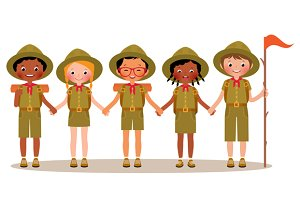 Сhildren boys and girls scouts