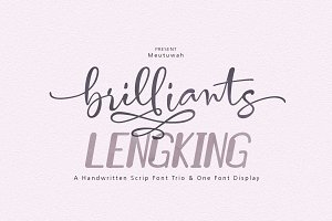 Brilliants + LENGKING 4 Style Font
