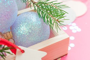 Christmas pearl decoration balls pin