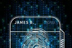 Fingerprint scan futuristic concept