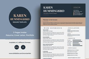 Karen Hummingbird Resume (3 Pages)