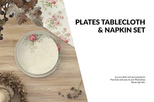 Plates, Tablecloth & Napkin Set