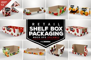 Retail Shelf Box Packaging Mockups1