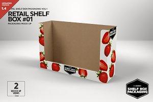 Retail Shelf Box 01 Packaging Mockup