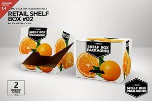 Retail Shelf Box 02 Packaging Mockup