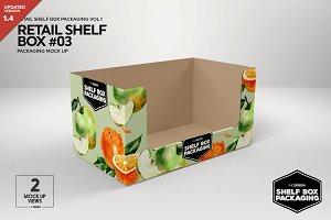 Retail Shelf Box 03 Packaging Mockup