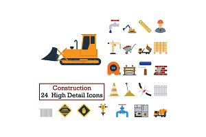 Set of 24  Construction Icons