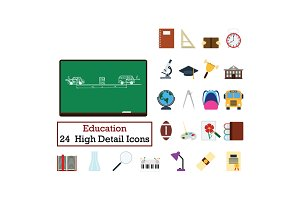 Set of 24  Education Icons