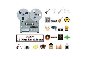 Set of 24  Music Icons