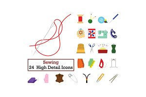 Set of 24  Sewing Icons