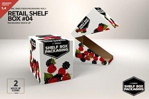 Retail Shelf Box 04 Packaging Mockup