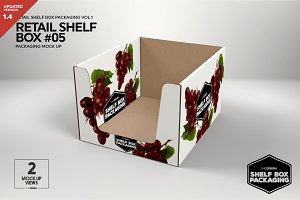 Retail Shelf Box 05 Packaging Mockup