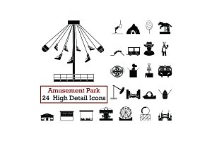 Set of 24  Amusement Park Icons