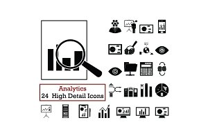 Set of 24  Analytics  Icons
