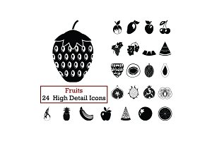 Set of 24  Fruit Icons