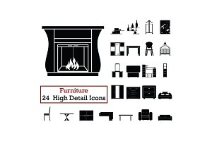 Set of 24  Furniture Icons