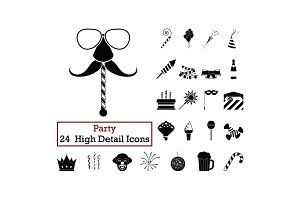 Set of 24  Party Icons.